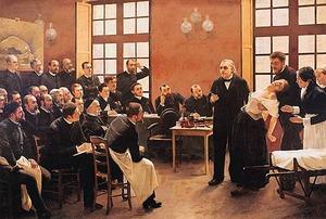 Démonstration d'hypnose par le Pr Charcot à la Pitié-Salpêtrière