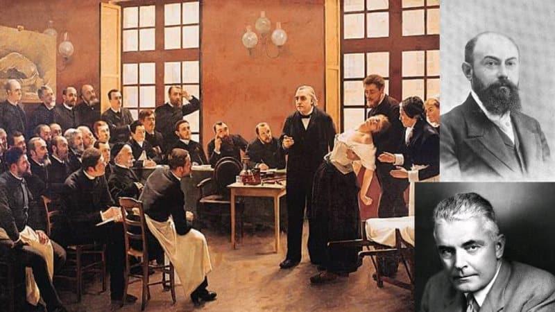 Pr Charcot durant une séance de transes hypnotique sur une malade dite hystérique